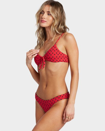 2 Falling Light Lowrider Bikini Bottoms Red 6504900 Billabong
