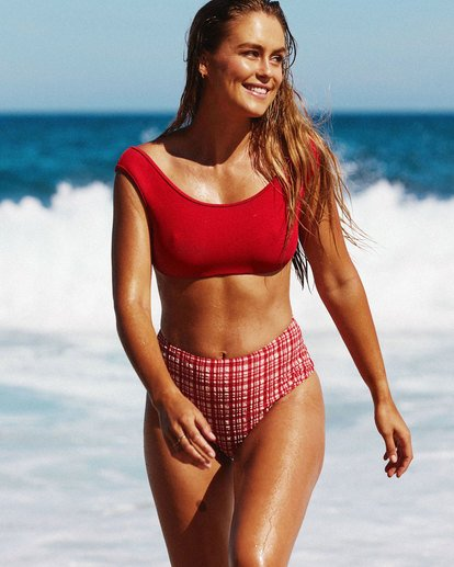 0 Lovedays Crop Bikini Top - Steph Claire Smith Red 6504906 Billabong
