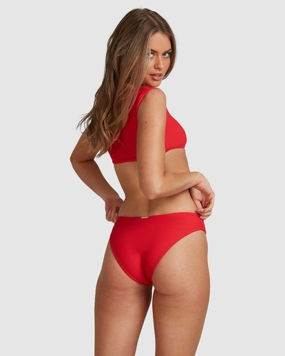 4 Lovedays Bondi Bikini Bottoms - Steph Claire Smith Red 6504908 Billabong