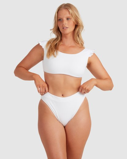 2 Beach Bliss Maui Rider Bikini Bottoms - Steph Claire Smith White 6504913 Billabong
