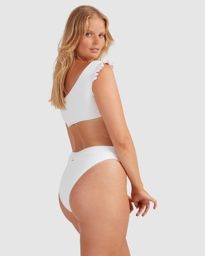 3 Beach Bliss Maui Rider Bikini Bottoms - Steph Claire Smith White 6504913 Billabong