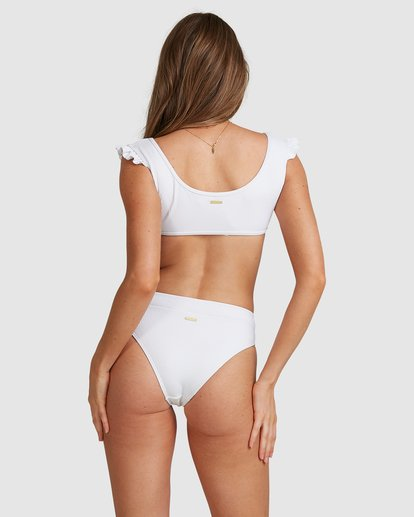 4 Beach Bliss Maui Rider Bikini Bottoms - Steph Claire Smith White 6504913 Billabong