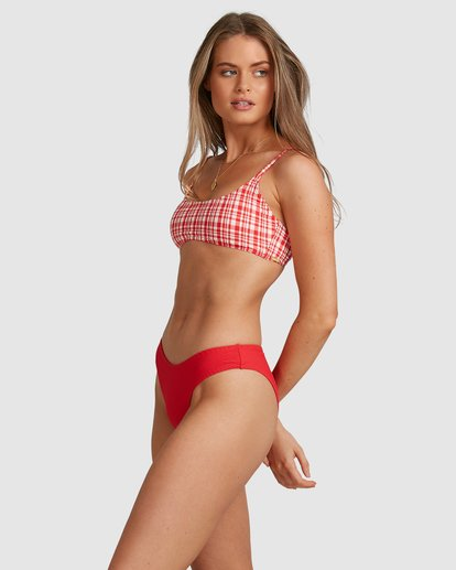 7 Get It Gingham Bralette Bikini Top - Steph Claire Smith Red 6504916 Billabong