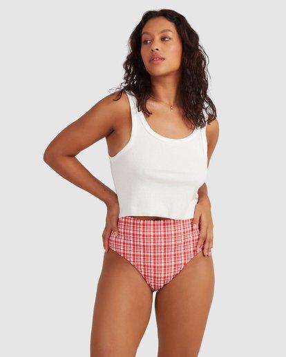 1 Get It Gingham Hi Retro Bikini Bottoms - Steph Claire Smith Red 6504917 Billabong