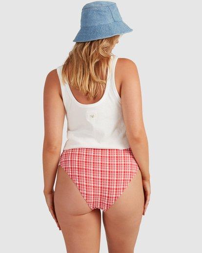 2 Get It Gingham Hi Retro Bikini Bottoms - Steph Claire Smith Red 6504917 Billabong