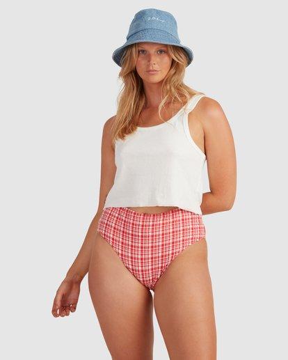 3 Get It Gingham Hi Retro Bikini Bottoms - Steph Claire Smith Red 6504917 Billabong