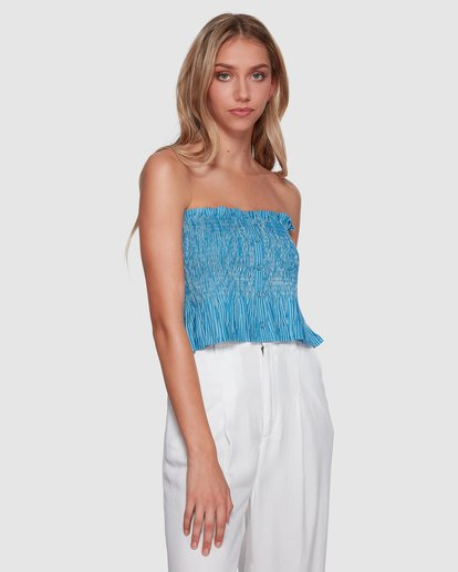 1 Well Grounded Top Blue 6507114 Billabong