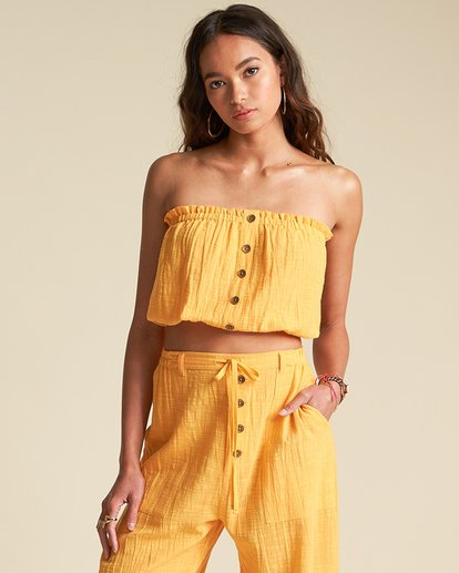 0 Spring Rays Top - Sincerely Jules Collection Orange 6507126M Billabong