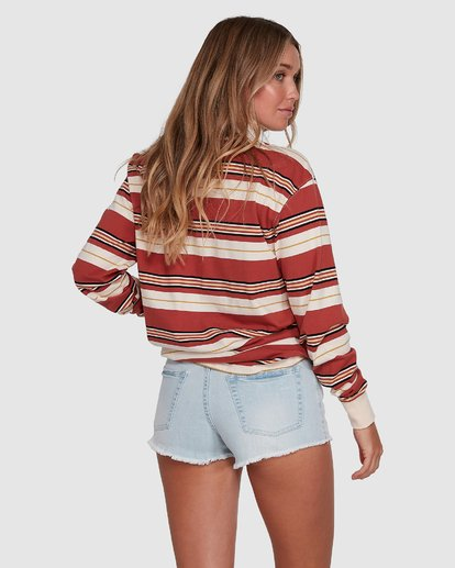 3 Double Up Rugby Long Sleeve Top Brown 6507143X Billabong