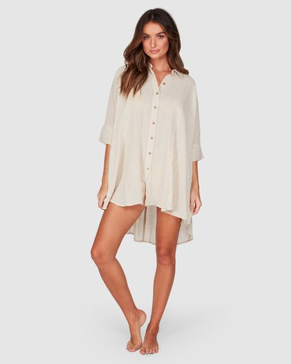 4 So Surreal Shirt Dress Beige 6507153 Billabong