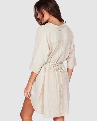 2 So Surreal Shirt Dress Beige 6507153 Billabong