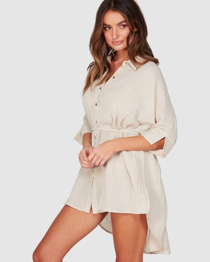 1 So Surreal Shirt Dress Beige 6507153 Billabong