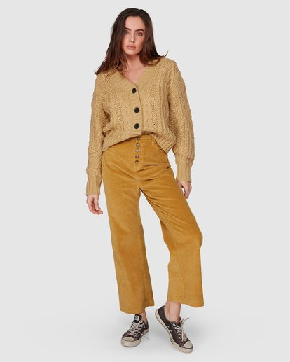 8 Bronte Cord Pant Yellow 6507405 Billabong