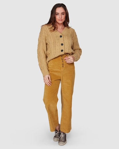 1 Bronte Cord Pant Yellow 6507405 Billabong