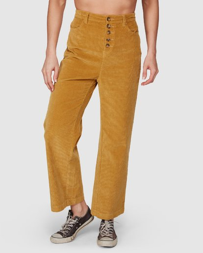 4 Bronte Cord Pant Yellow 6507405 Billabong