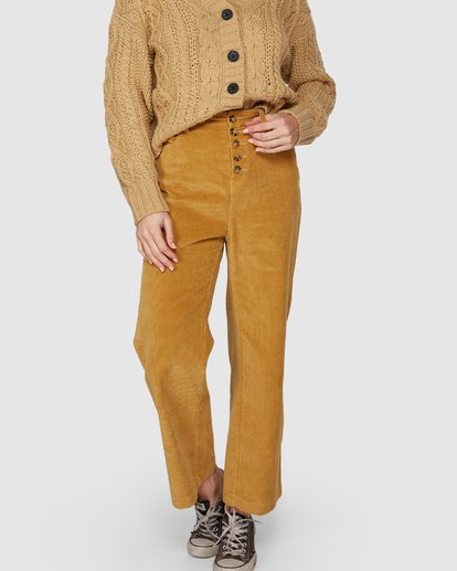 6 Bronte Cord Pant Yellow 6507405 Billabong