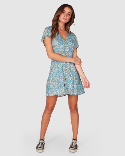 4 Wake Me Up Dress Blue 6507475 Billabong