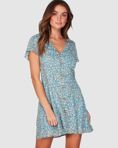 0 Wake Me Up Dress Blue 6507475 Billabong