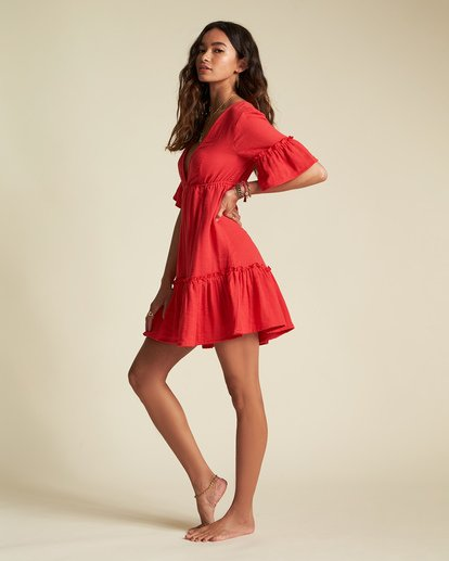 4 Lovers Wish Dress - Sincerely Jules Collection Red 6507490M Billabong