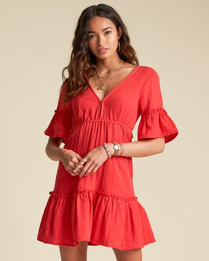 1 Lovers Wish Dress - Sincerely Jules Collection Red 6507490M Billabong