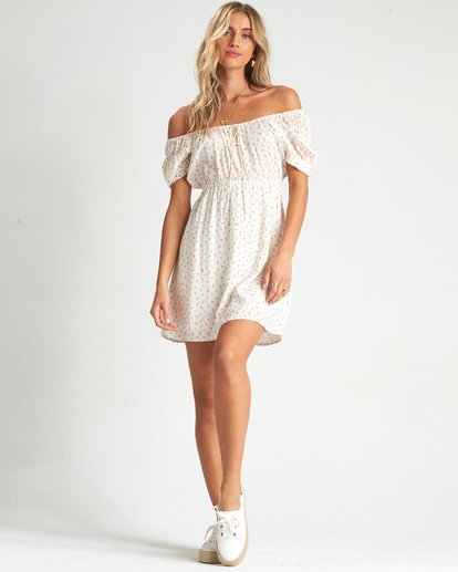 3 Fall For Love Dress White 6507495X Billabong