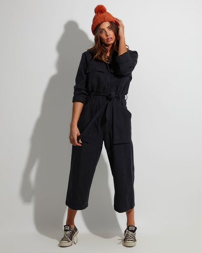 0 Work At It Jumpsuit Black 6507507 Billabong
