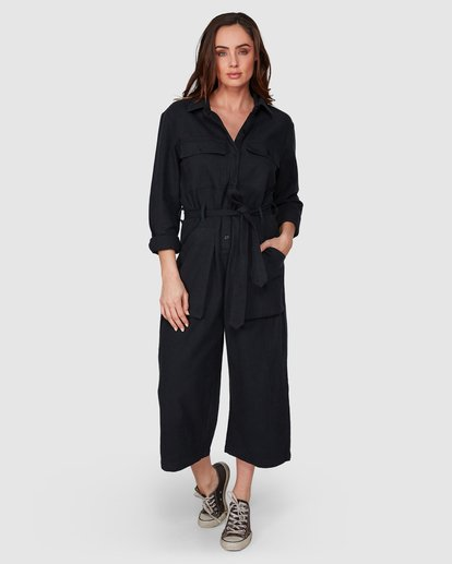 5 Work At It Jumpsuit Black 6507507 Billabong