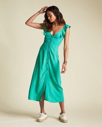 0 Love Tripper Dress - Sincerely Jules Collection Green 6507519M Billabong