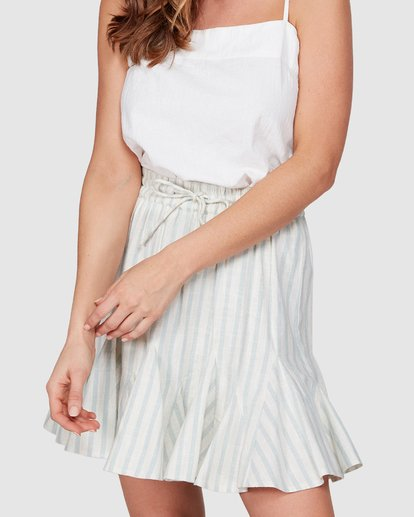 7 Blue Ray Skirt Beige 6507523 Billabong