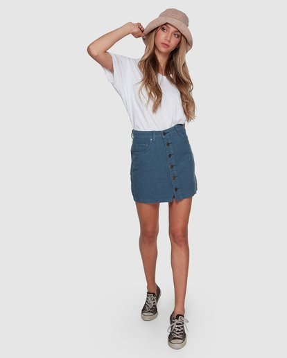 7 Good Life Cord Skirt Blue 6507527 Billabong