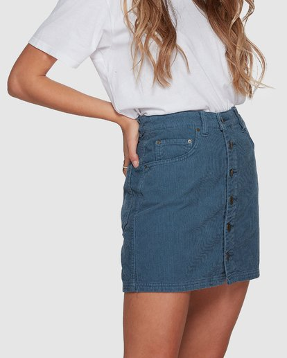 4 Good Life Cord Skirt Blue 6507527 Billabong