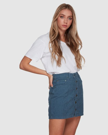 2 Good Life Cord Skirt Blue 6507527 Billabong