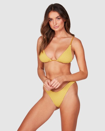 2 Lovelock Hike Bikini Bottoms Yellow 6507576 Billabong