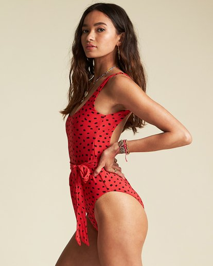 2 Rio Rain One Piece - Sincerely Jules Collection Red 6507603M Billabong