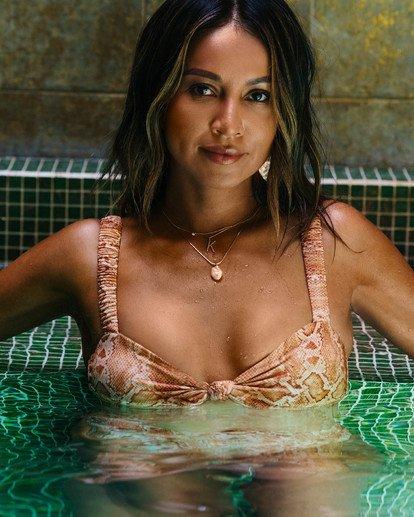 0 Over The Sun Bandeau Bikini Top - Sincerely Jules Collection Black 6507610X Billabong