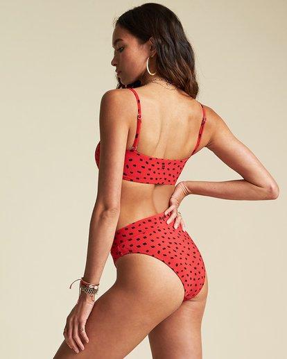 3 Rio Rain Tube Bikini Top - Sincerely Jules Collection Red 6507614M Billabong