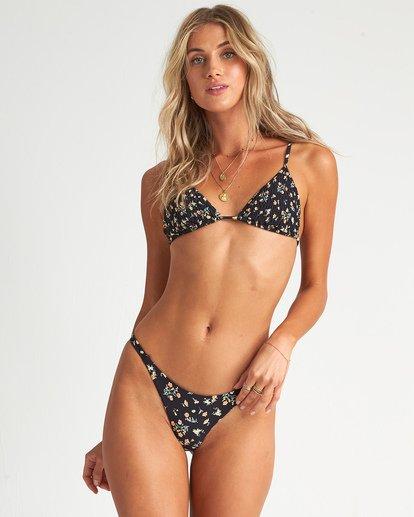 0 Sweet Side Slide Tri Bikini Top Black 6507639AS Billabong