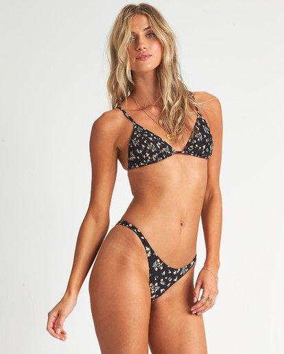 1 Sweet Side Slide Tri Bikini Top Black 6507639AS Billabong