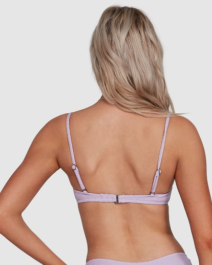 2 Braid Rib Bralette Bikini Top Purple 6507676M Billabong