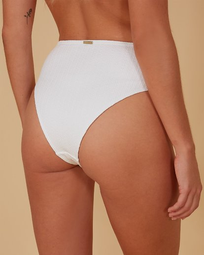 3 Braid Rib Hi Maui Bikini Bottoms White 6507689M Billabong