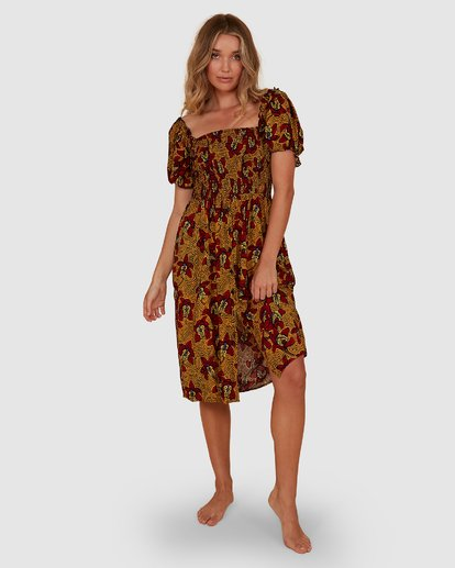 2 Sunbaked Midi Dress Red 6507699M Billabong