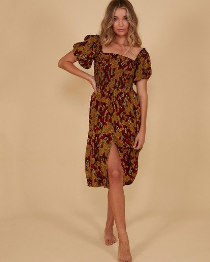 0 Sunbaked Midi Dress Red 6507699M Billabong