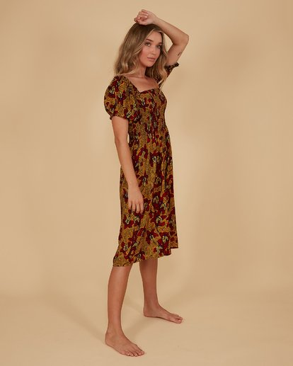 1 Sunbaked Midi Dress Red 6507699M Billabong