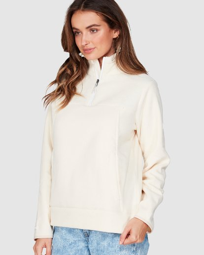 1 Boundary Mock Half Zip White 6507740 Billabong