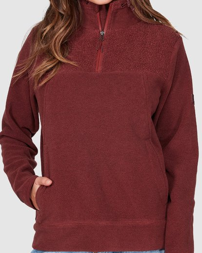 3 Boundary Mock Half Zip Purple 6507740 Billabong