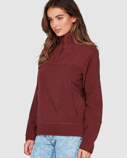 1 Boundary Mock Half Zip Purple 6507740 Billabong