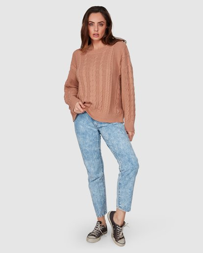 7 That Cable Crew Sweater Yellow 6507794 Billabong
