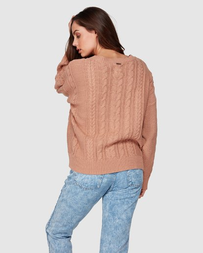 4 That Cable Crew Sweater Yellow 6507794 Billabong