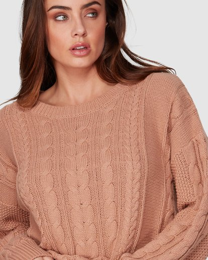 5 That Cable Crew Sweater Yellow 6507794 Billabong
