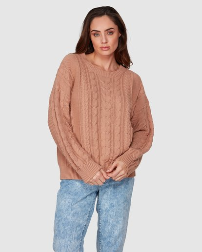 2 That Cable Crew Sweater Yellow 6507794 Billabong
